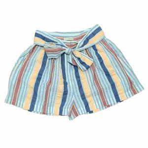 Ulla Johnson Stripped Mini Shorts Size 2